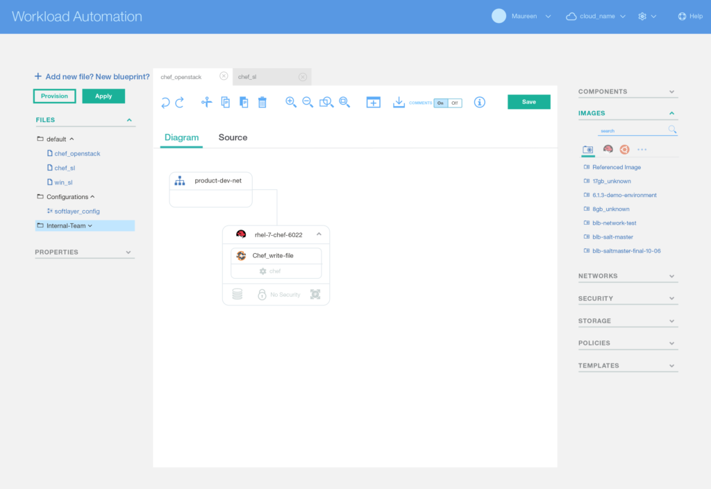 Workload Automation Visual Design: Editor